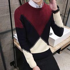 NAPO - Color Block Sweater