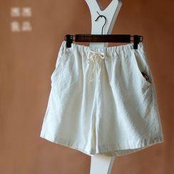 Rosadame - Drawstring Waist Shorts