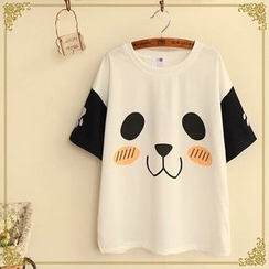 Fairyland - Panda Face Short Sleeved T-Shirt