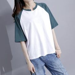 Sonne - Color-Block raglan T-Shirt