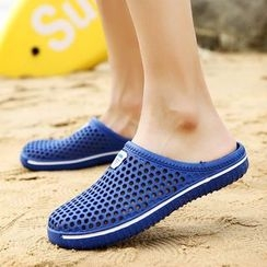 HANO - Perforated Flat Slide Sandals