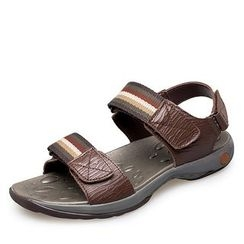 EnllerviiD - Genuine-Leather Striped Sandals