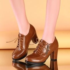 Shoes Galore - Chunky Heel Oxfords