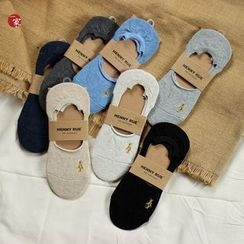 Socka - Bear-Embroidered No-Show Socks