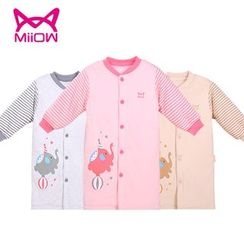 MiiOW - Kids Elephant Print Buttoned Nightdress