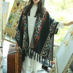 Shiga - Patterned Cape