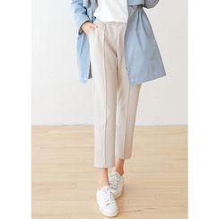 J-ANN - Seam-Front Pocket-Side Tapered Pants