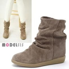 MODELSIS - Shirred Ankle Boots