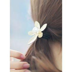kitsch island - Floral Faux-Pearl Hair Tie