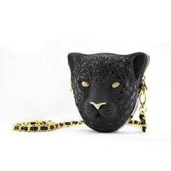 Adamo 3D Bag Original - 施华洛世奇水晶版花豹头 3D 袋