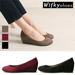 Wifky - Wedge-Heel Faux-Suede Pumps