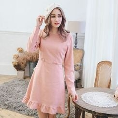 Tokyo Fashion - Long-Sleeve Bow-Accent Dress