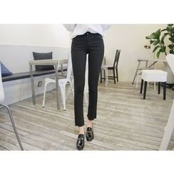Envy Look - Fray-Hem Straight-Cut Pants
