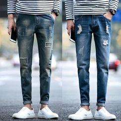 Edway - Distressed Slim-Fit Jeans