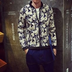 Edway - Floral Print Zip Jacket