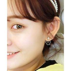 Miss21 Korea - Butterfly Stud Earrings