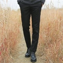 BYMONO - Brushed-Fleece Lined Dress Pants