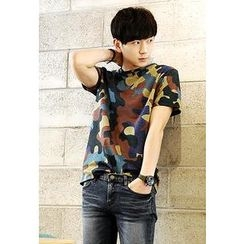 HOTBOOM - Short-Sleeve Camouflage T-Shirt