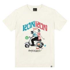 the shirts - Run Print T-Shirt