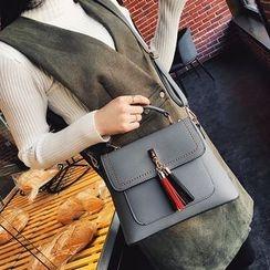 Bag Affair - Tassel Flap Shoulder Bag