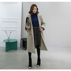 Miamasvin - Double-Breasted Wool Blend Coat