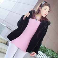 QZ Lady Furry Long Sweater