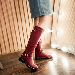 幸福鞋坊 - 飾扣馬靴