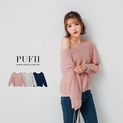 PUFII - Furry Knit Top