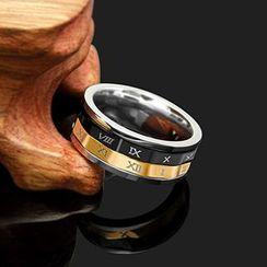 Andante - Roman Numeral Ring