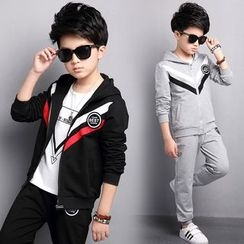 Pegasus - Kids Set : Chevron Hooded Jacket + Sweatpants