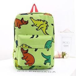 Miss Sweety - Dinosaur-Print Canvas Backpack