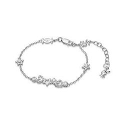 Kenny & co. - 925 Silver Rabbit C. Star & Heart Bracelet with Crystal