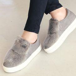 DANI LOVE - Faux-Fur Slip-Ons