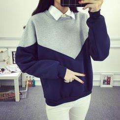 Emeline - Two-Tone Sweatshirt