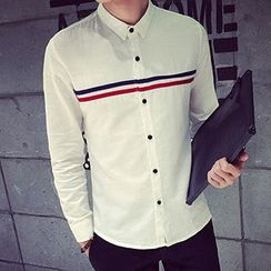 maxhomme - Stripe Long-Sleeve Shirt