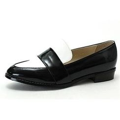 MODELSIS - Two-Tone Faux-Leather Loafers