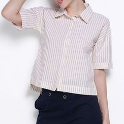 Obel - Short-Sleeve Striped Shirt