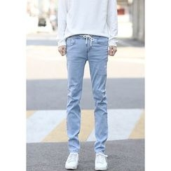 PLAYS - Drawstring-Waist Slim-Fit Jeans