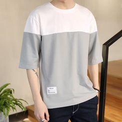 JETTE - Colour Block Short-Sleeve T-shirt