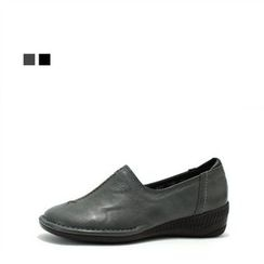 MODELSIS - Genuine Leather Stitched Loafer