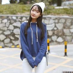 Sens Collection - 拼色针织连帽衫