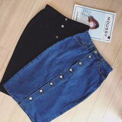Fancy Room - Denim Midi Skirt