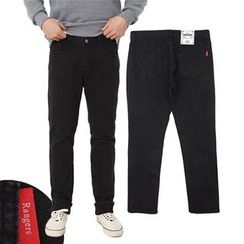 Seoul Homme - Striahgt-Cut Washed Jeans