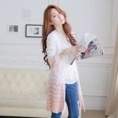 Tokyo Fashion - Gradient Pointelle-Knit Cardigan