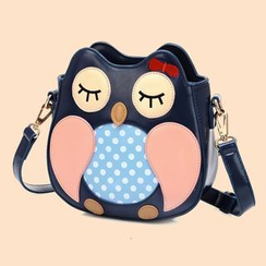 BeiBaoBao - Faux-Leather Owl Cross Bag