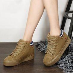 Renben - Hidden Wedge Fleece-lined Sneakers
