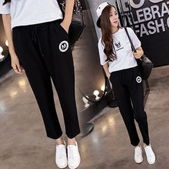 Arroba - Cropped Straight Fit Pants