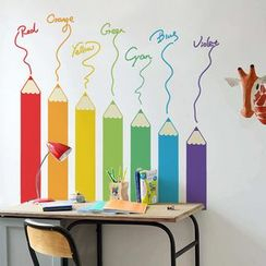 LESIGN - Colored Pencils Wall Sticker