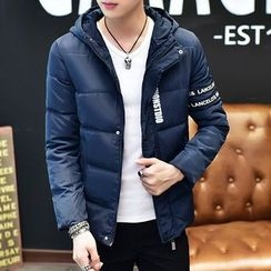Gurun Vani - Lettering Hooded Padded Jacket
