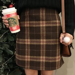 Dute - Plaid A-Line Skirt